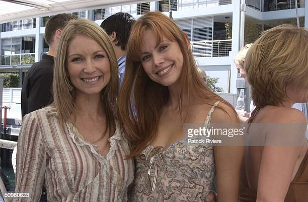 Penne Dennison and Karen Fisher at the Tommy Hilfiger Summer Fashion Show held at Otto Ristorante and aboard the China Grove II at the Wooloomooloo...