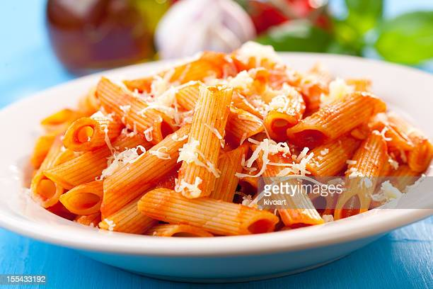 Penne, tomato and basil