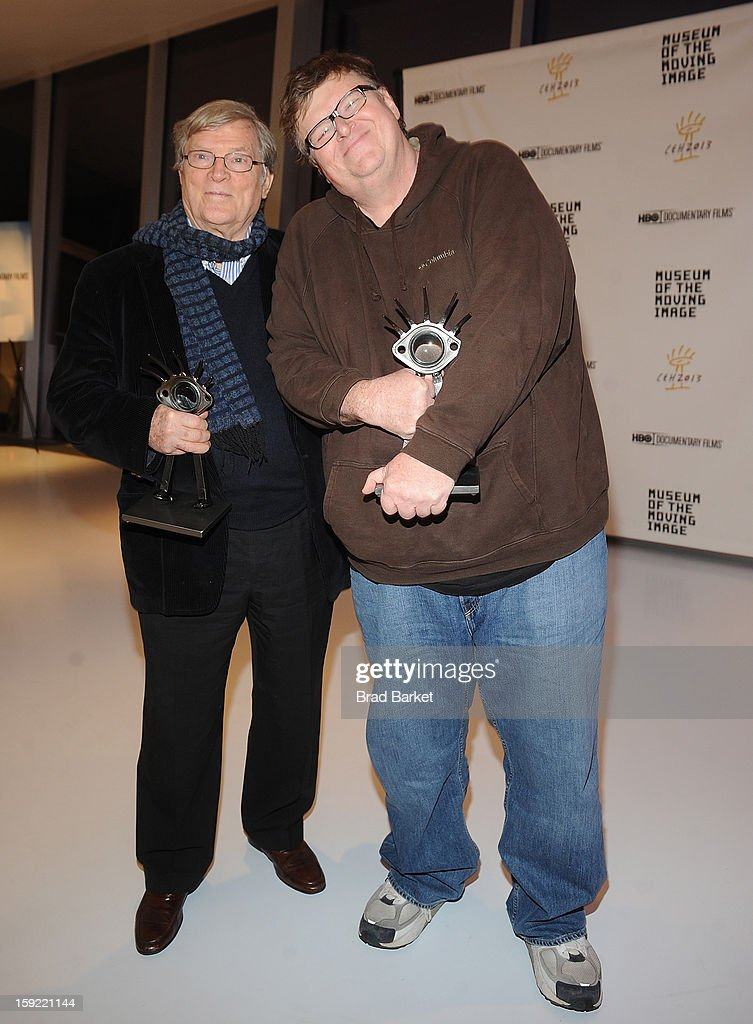 D.A. Pennebaker and Michael Moore attend 6th Annual Cinema Eye Honors For Nonfiction Filmmaking at Museum of the Moving Image on January 9, 2013 in New York City.