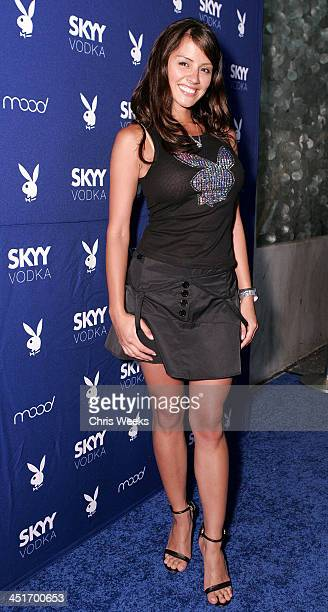 Pennelope Jimenez during Skyy Vodka Celebrates Playboy's August Issue With Playmate of the Year Kara Monaco Red Carpet at Mood in Hollywood...