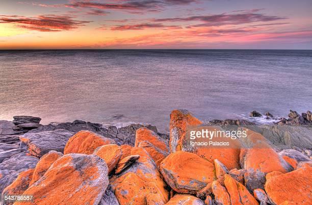 Penneshaw coastline at sunset