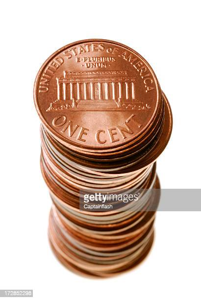pennies - us penny stock pictures, royalty-free photos & images