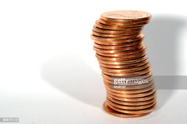 pennies (25 stacked)