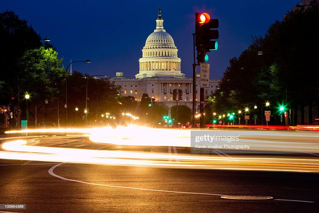 Pennsylvania Ave to US Capitol : Stock Photo