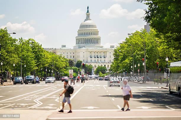 Pennsylvania Avenue und United States Capitol, Washington, D.C.  USA,