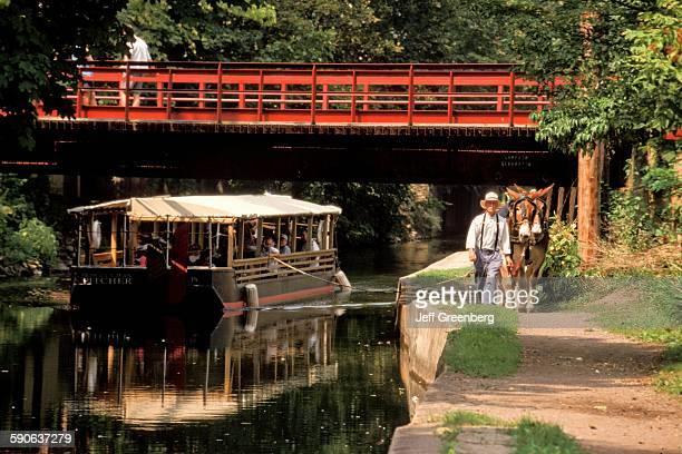 Pennsylvania Bucks County New Hope MuleDrawn Delaware Canal Boat Ride