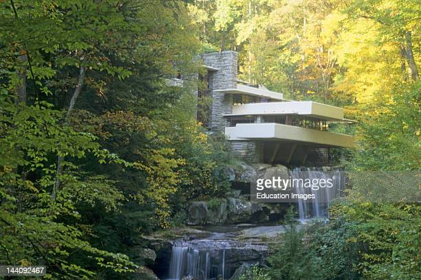 Pennsylvania Fallingwater House Frank Lloyd Wright Architect