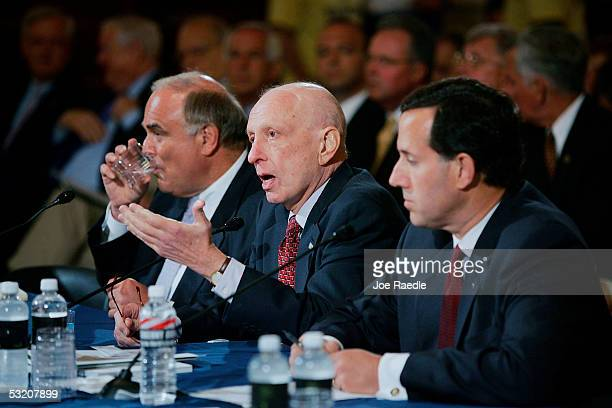 Pennsylvania Governor Edward Rendell Senator Arlen Specter and Senator Rick Santorum testify at the the Base Realignment and Closure Commission...