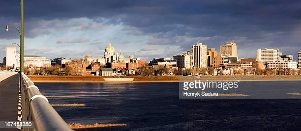 usa, pennsylvania, harrisburg, cityscape - harrisburg pennsylvania stock pictures, royalty-free photos & images