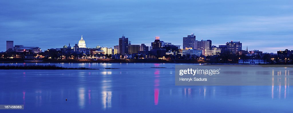 USA, Pennsylvania, Harrisburg, cityscape : Stock Photo