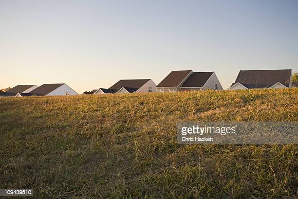 usa, pennsylvania, house's rooftops - hackett stock photos and pictures