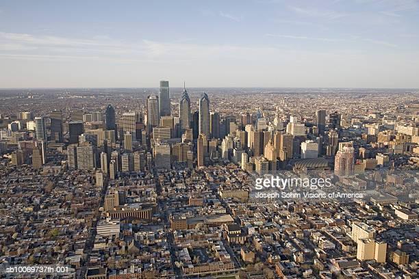 USA, Pennsylvania, Philadelphia, aerial view of downtown