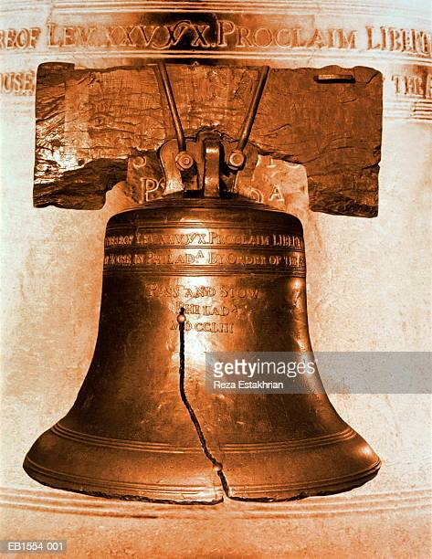 usa, pennsylvania, philadelphia, liberty bell (digital composite) - liberty bell stock pictures, royalty-free photos & images