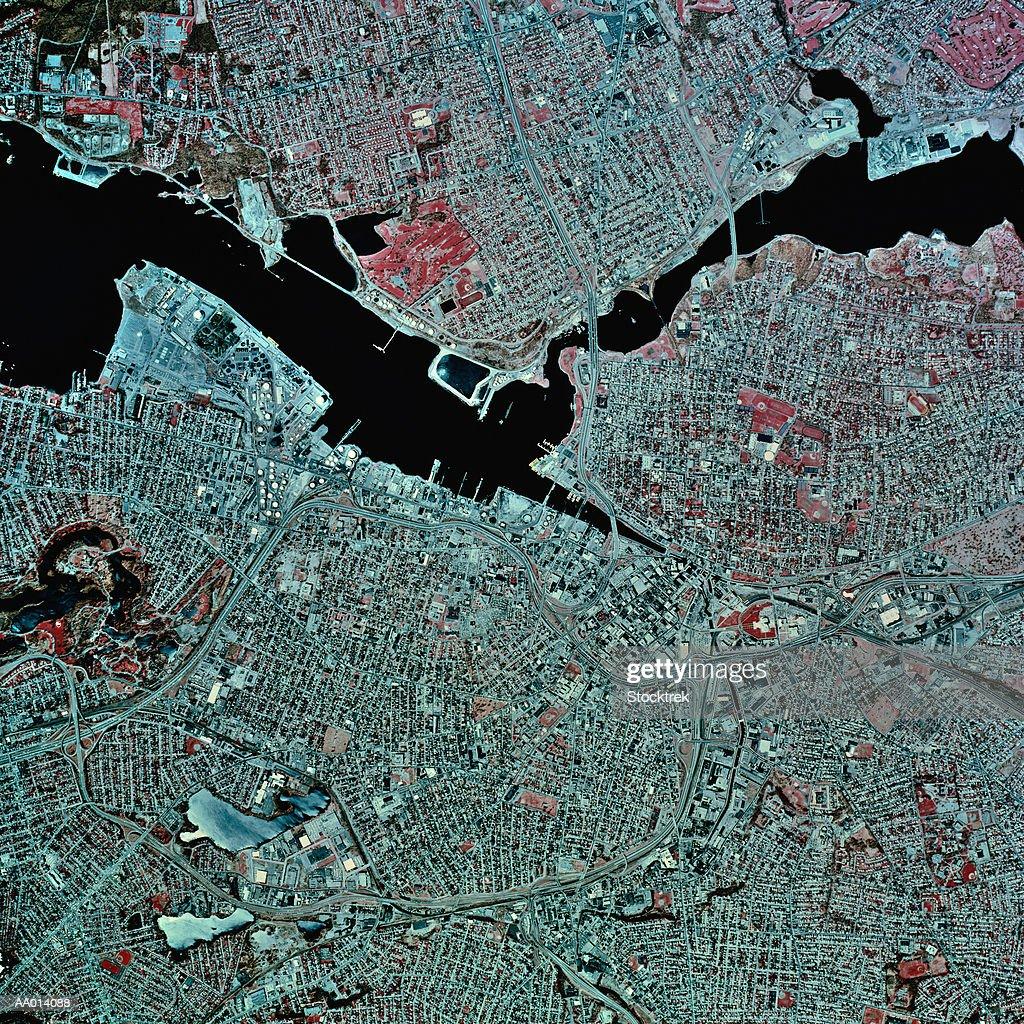 USA, Pennsylvania, Providence, satellite image : Stock Photo
