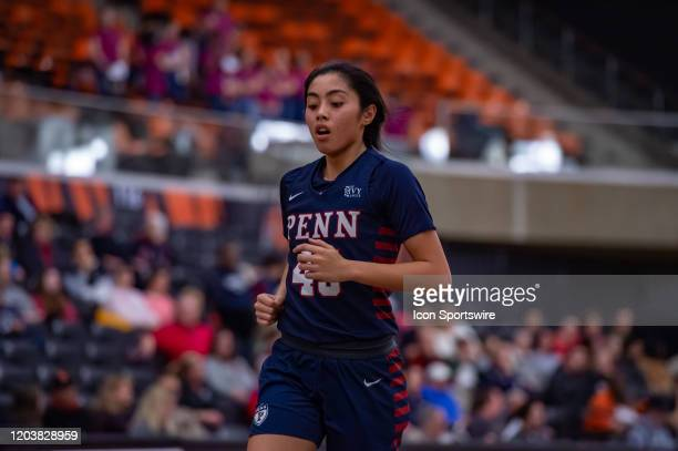 Pennsylvania Quakers forward Kayla Padilla during the Ivy League college basketball game between the Penn Quakers and Princeton Tigers on February 25...