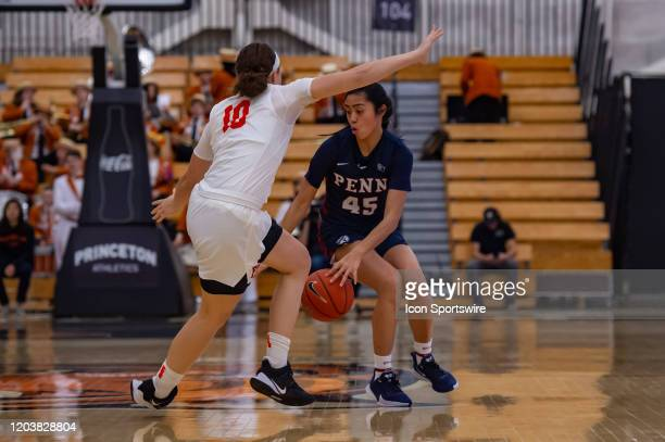Pennsylvania Quakers forward Kayla Padilla in action during the Ivy League college basketball game between the Penn Quakers and Princeton Tigers on...