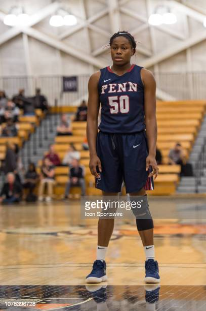Pennsylvania Quakers forward Princess Aghayere during the college basketball game between the Penn Quakers and Princeton Tigers on January 5 2019 at...