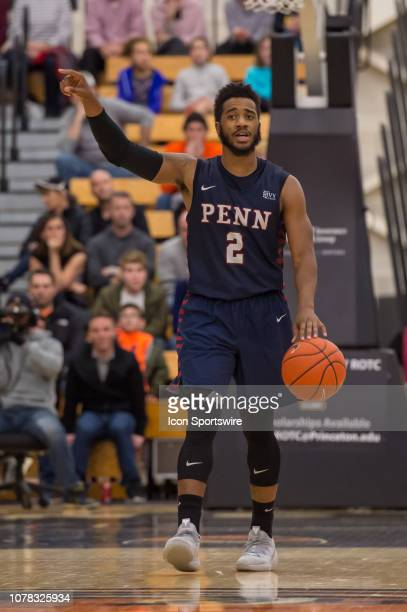 Pennsylvania Quakers guard Antonio Woods during the college basketball game between the Penn Quakers and Princeton Tigers on January 5 2019 at Jadwin...