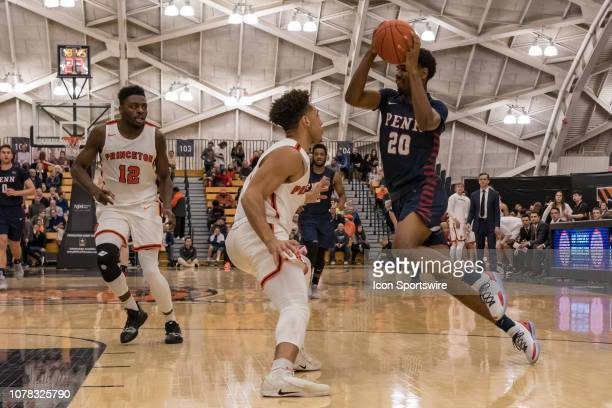 Pennsylvania Quakers guard Bryce Washington during the college basketball game between the Penn Quakers and Princeton Tigers on January 5 2019 at...