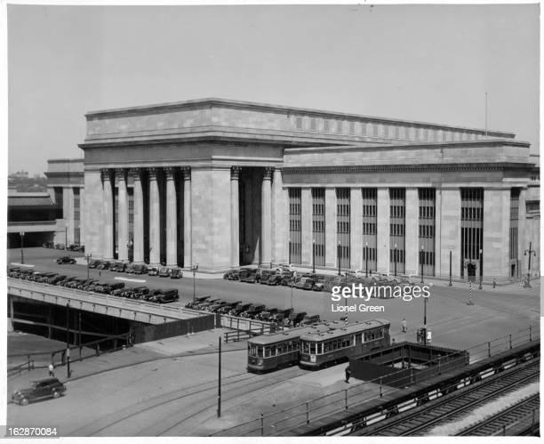 Pennsylvania Railroad's 30th Street Station in Philadelphia circa 1945
