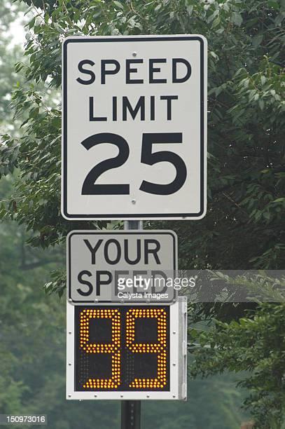 USA, Pennsylvania, Speed limit of 25 miles per hour