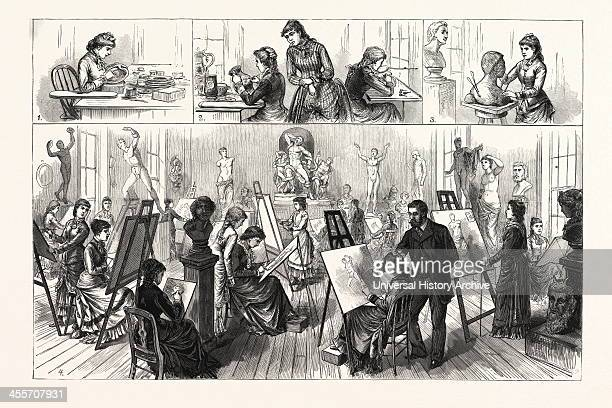 Pennsylvania The Philadelphia School Of Design For Women In The Old Edwin Forrest Mansion 1 Decorating China 2 Painting Pottery 3 A Young Sculptor 4...