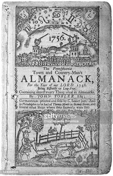 Pennsylvania Town And CountryMan'S Almanack Cover Of The Pennsylvania Town And CountryMan'S Almanack Published In 1756 Colonial Presses Produced An...