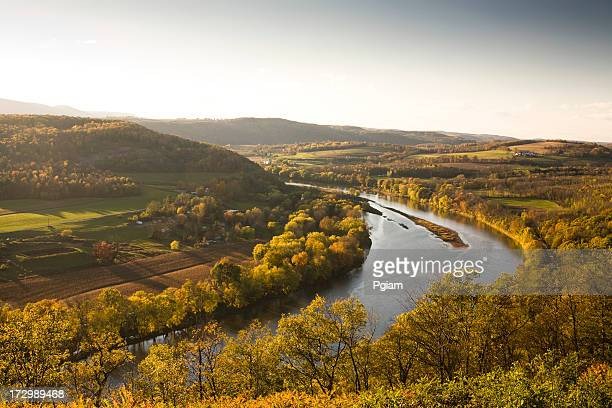 pennsylvania valley in autumn - eastern usa stock photos and pictures