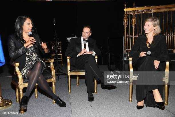 Penny Abeywardena Scott Handler and AnneClaire Legendre attend French American Foundation Annual Gala 2017 at Gotham Hall on November 28 2017 in New...