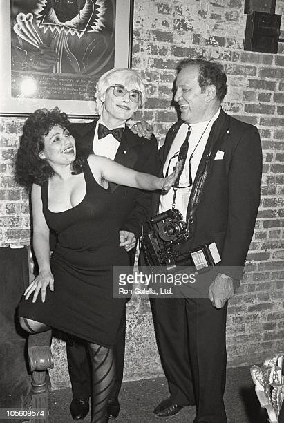 Penny Arcade Allan Midgette and Ron Galella during 'Andy's Women' at Tunnel October 26 1988 at The Tunnel in New York City New York United States