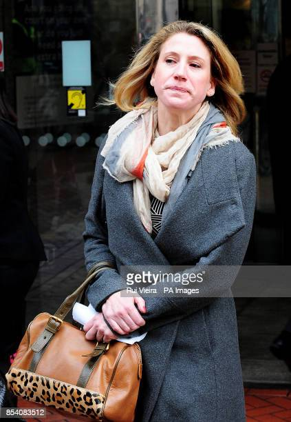Penny Belcuore outside The High Court in Birmingham after receiving an undisclosed settlement over the death of her husband Luigi Belcoure who died...