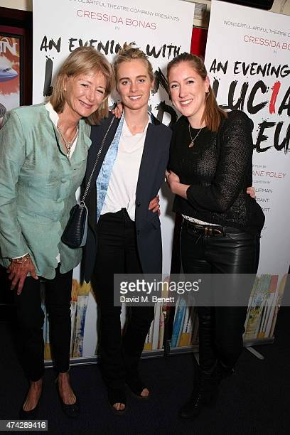 Penny Bonas Cressida Bonas and Georgina Ranson attend the press night performance of 'An Evening With Lucian Freud' at the Leicester Square Theatre...