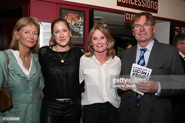 Penny Bonas Georgia Ranson Lady MaryGaye Curon and Jeffrey Bonas attend the press night performance of 'An Evening With Lucian Freud' at the...