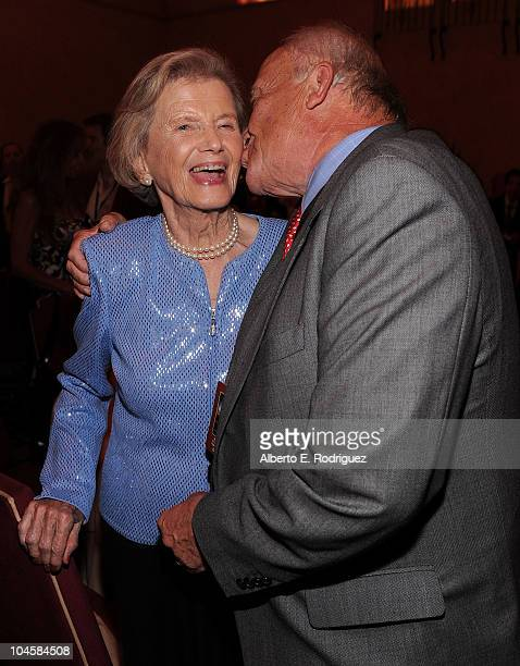 Penny Chenery and writer William Nack attend the premiere of Walt Disney Pictures' 'Secretariat' after party at the on September 30 2010 in Hollywood...