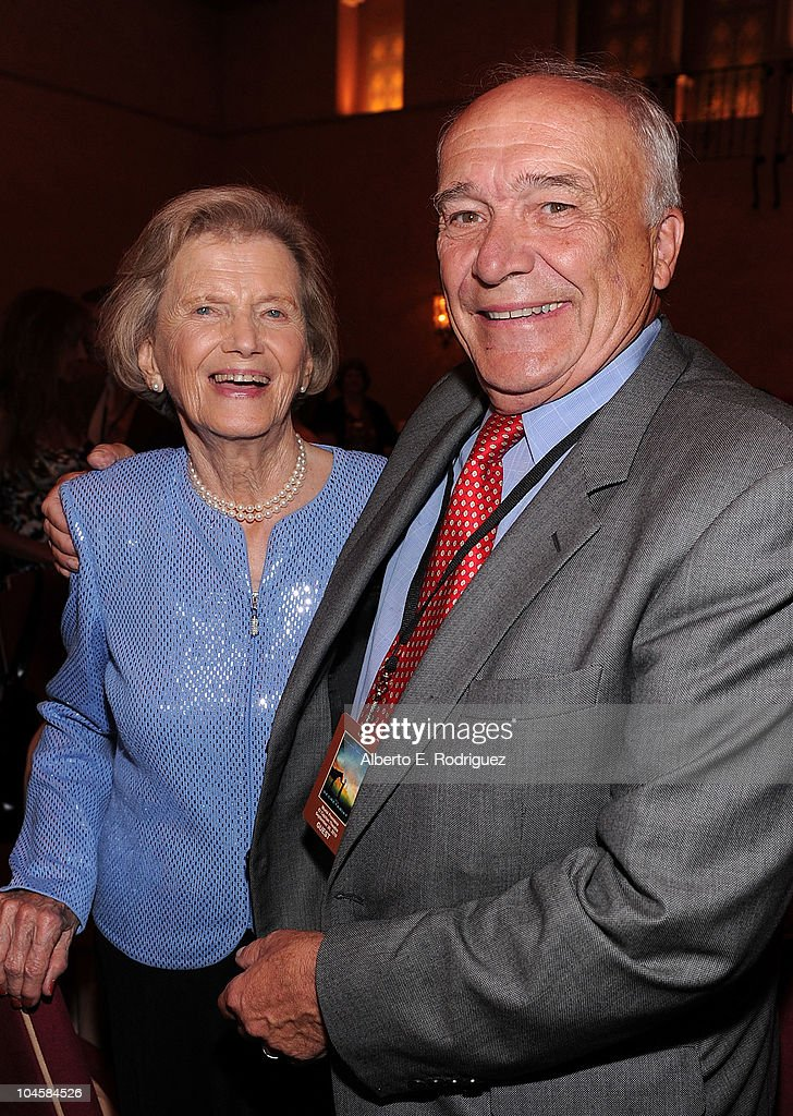 Penny Chenery (L) and writer William Nack attend the premiere of Walt Disney Pictures' 'Secretariat' after party at the on September 30, 2010 in Hollywood, California.