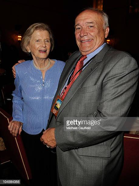 Penny Chnerey and William Nack attend the 'Secretariat' premiere after party on September 30 2010 in Hollywood California