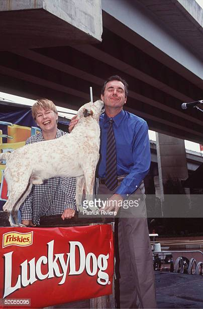 Penny Cook and Alan Fletcher pictured at the Australian Dog of the Year Show at Palm Grove in January 2000 in Darling Harbour Sydney Australia