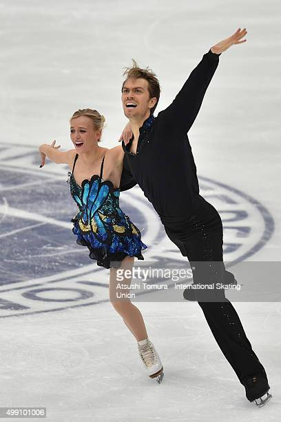 Penny Coomes and Nicholas Buckland of Grate Britain compete in the Ice dance free dance during the day three of the NHK Trophy ISU Grand Prix of...