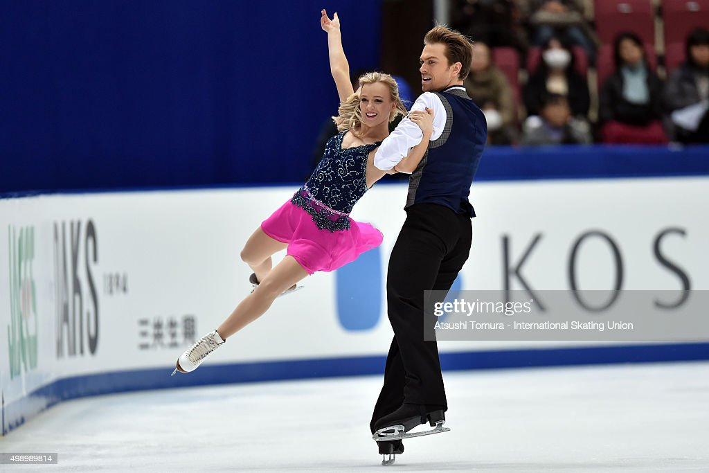 Penny Coomes and Nicholas Buckland of Grate Britain perform during the Ice dance short dance on day two of the NHK Trophy ISU Grand Prix of Figure Skating 2015 at the Big Hat on November 28, 2015 in Nagano, Japan.