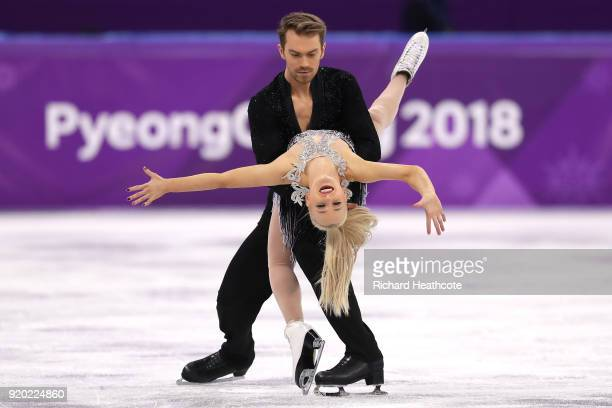 Penny Coomes and Nicholas Buckland of Great Britain compete during the Figure Skating Ice Dance Short Dance on day 10 of the PyeongChang 2018 Winter...
