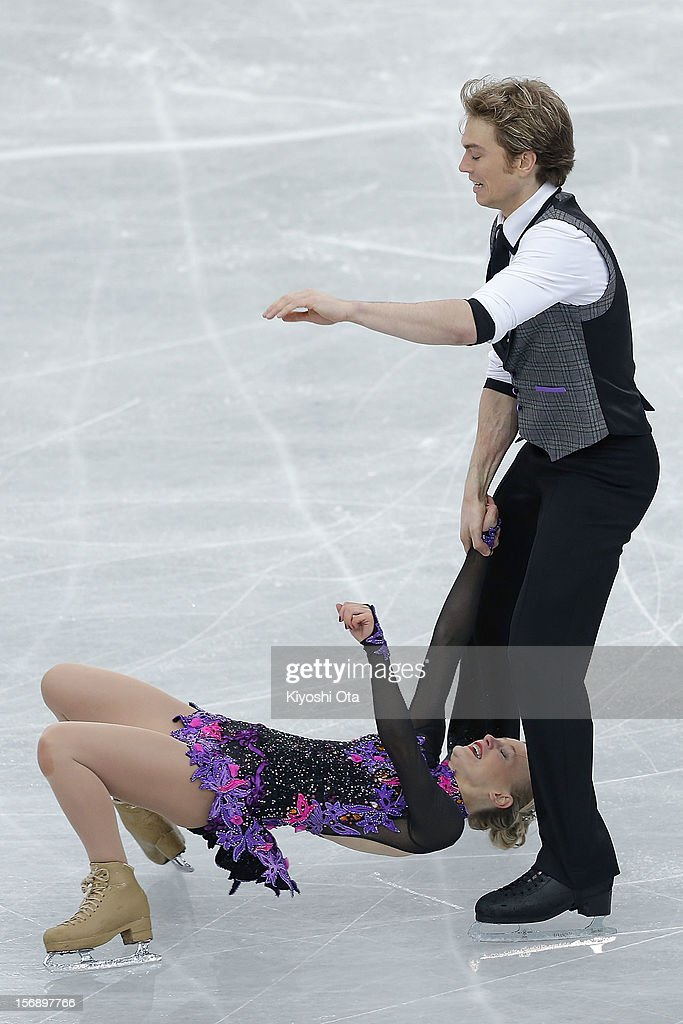 Penny Coomes and Nicholas Buckland of Great Britain compete in the Ice Dance Free Dance during day two of the ISU Grand Prix of Figure Skating NHK Trophy at Sekisui Heim Super Arena on November 24, 2012 in Rifu, Japan.