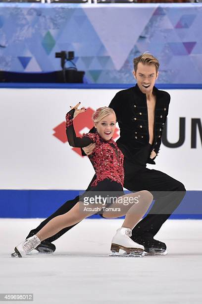 Penny Coomes and Nicholas Buckland of Great Britain compete in the Ice Dance Short Program during day two of ISU Grand Prix of Figure Skating...