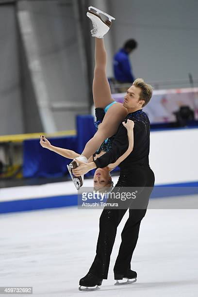Penny Coomes and Nicholas Buckland of Great Britain compete in the Ice Dance Free Dance during day three of ISU Grand Prix of Figure Skating...