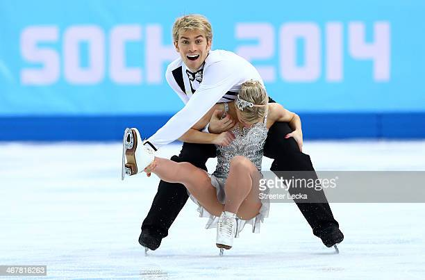 Penny Coomes and Nicholas Buckland of Great Britain compete in the Figure Skating Team Ice Dance Short Dance during day one of the Sochi 2014 Winter...