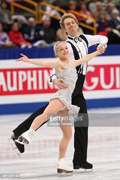 Penny Coomes and Nicholas Buckland of Great Britain compete in the Ice Dance Short Dance during ISU World Figure Skating Championships at Saitama...