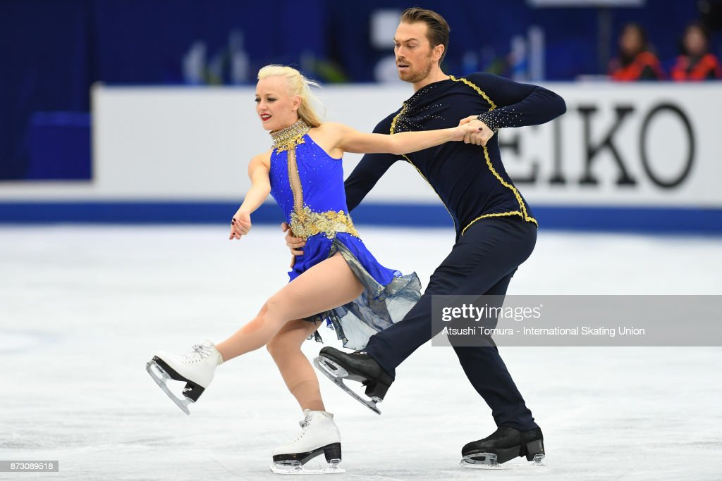 Penny Coomes and Nicholas Buckland of Great Britain compete in the Ice dace free dance during the ISU Grand Prix of Figure Skating at Osaka municipal central gymnasium on November 12, 2017 in Osaka, Japan.