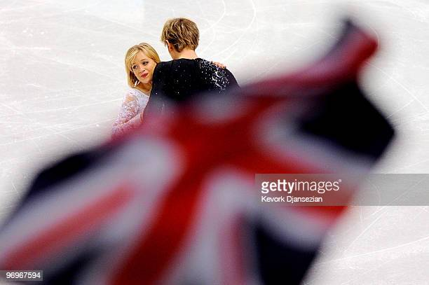 Penny Coomes and Nicholas Buckland of Great Britain compete in the free dance portion of the Ice Dance competition on day 11 of the 2010 Vancouver...