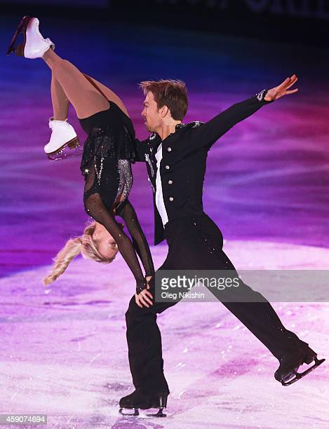 Penny Coomes and Nicholas Buckland of Great Britain perform during ISU Rostelecom Cup of Figure Skating 2014 on November 16 2014 in Moscow Russia