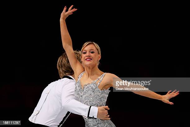 Penny Coomes and Nicholas Buckland of Great Britain perform in the Ice Dance Short Dance during day one of Trophee Eric Bompard ISU Grand Prix of...