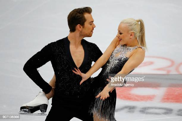 Penny Coomes and Nicholas Buckland of Great Britain perform in the Ice Dance category of Short Dance segment skating during the ISU European Figure...